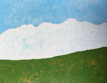 """Painting titled """"Snowy Mountains"""" by Giart, Original Art, Acrylic"""