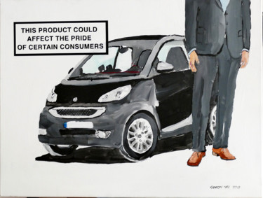 """Painting titled """"SMART CAR"""" by Gideon Nel, Original Art, Acrylic"""