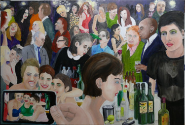 """Painting titled """"The Party"""" by Gideon Nel, Original Art, Oil"""