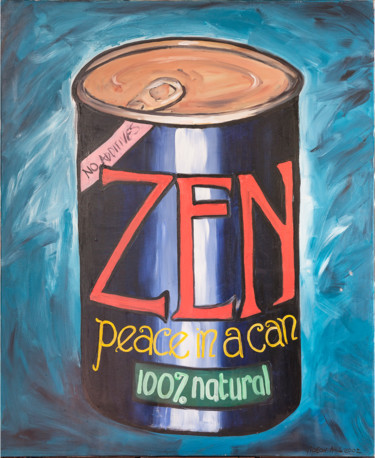 """Painting titled """"ZEN, peace in a can"""" by Gideon Nel, Original Art, Acrylic"""