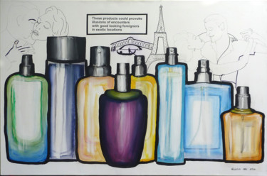 """Painting titled """"Perfume; Government…"""" by Gideon Nel, Original Art, Acrylic"""