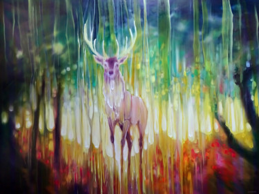 """Painting titled """"Forest Elemental"""" by Gill Bustamante, Original Art, Oil"""