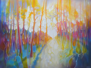 Landscape Painting, oil, expressionism, artwork by Gill Bustamante