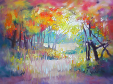 """Painting titled """"A moment in summer"""" by Gill Bustamante, Original Art, Oil"""
