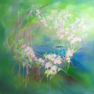 """Painting titled """"April Jewel"""" by Gill Bustamante, Original Art, Oil"""