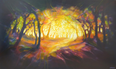 """Painting titled """"Forest Portal"""" by Gill Bustamante, Original Art, Oil"""