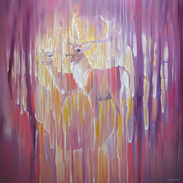"""Painting titled """"Forest Monarchs"""" by Gill Bustamante, Original Art, Oil Mounted on Stretcher frame"""