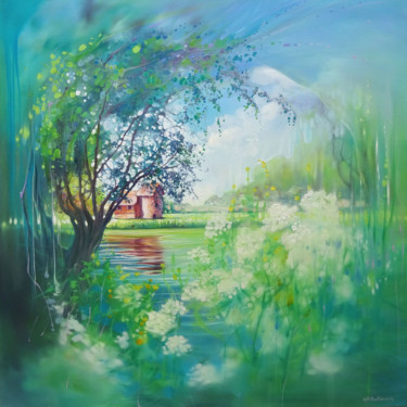 """Painting titled """"June Moment"""" by Gill Bustamante, Original Art, Oil"""