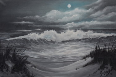 """Painting titled """"Wild Coast Wales"""" by Ginny Helsen, Original Art, Oil"""