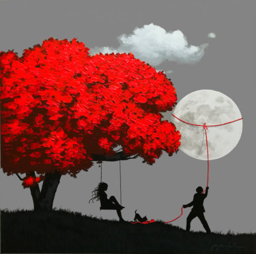 Tree Painting, acrylic, illustration, artwork by Gio Mondelli