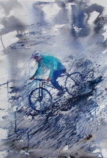 """Painting titled """"cycling 8"""" by Giorgio Gosti, Original Art, Watercolor"""
