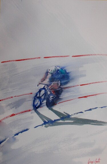 """Painting titled """"cycling 10"""" by Giorgio Gosti, Original Art, Watercolor"""