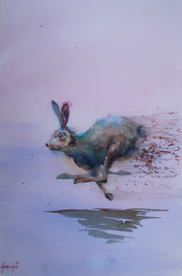 """Painting titled """"hare"""" by Giorgio Gosti, Original Art, Watercolor"""