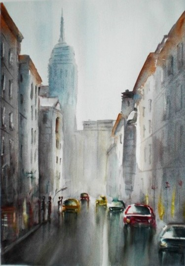 Painting, watercolor, artwork by Giorgio Gosti