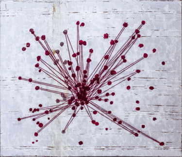 Painting, string art, abstract, artwork by Giovanni Perugini
