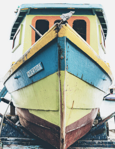 """Photography titled """"Wooden Boat"""" by Glauco Meneghelli, Original Art, Digital Photography"""