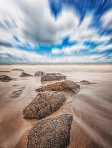 """Photography titled """"Stones On The Beach"""" by Glauco Meneghelli, Original Art, Digital Photography"""