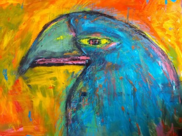 """Painting titled """"Parrot"""" by Michele Carosella, Original Art, Acrylic"""