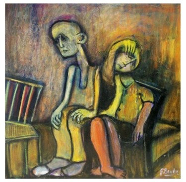 """Painting titled """"young patient,old p…"""" by Glenn Brady, Original Art,"""