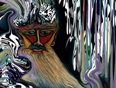"""Digital Arts titled """"Father Nights Long,…"""" by Glenn Durrance, Original Art, Collages"""