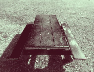 """Photography titled """"Picnic Table"""" by Glenn Durrance, Original Art,"""