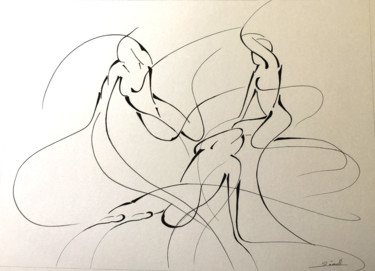 Women Drawing, marker, abstract, artwork by Ghyslaine Leonelli