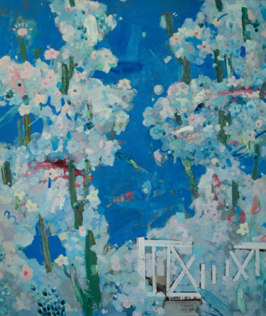 """Painting titled """"Blooming"""" by Glib Franko, Original Art, Oil Mounted on Stretcher frame"""