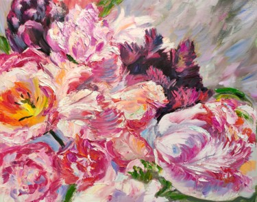 """Painting titled """"Flowers day."""" by Sulamita Sulamita, Original Art, Oil"""