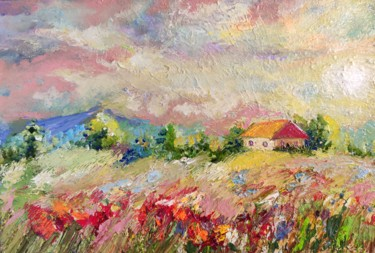 """Painting titled """"Sweet home."""" by Sulamita Sulamita, Original Art, Oil Mounted on Stretcher frame"""