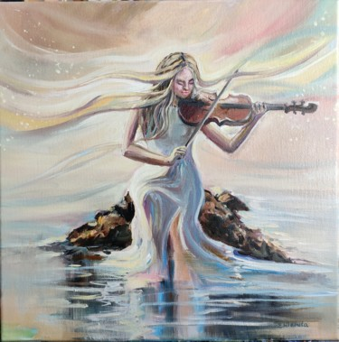 """Painting titled """"Song of my soul."""" by Sulamita Sulamita, Original Art, Oil Mounted on Stretcher frame"""