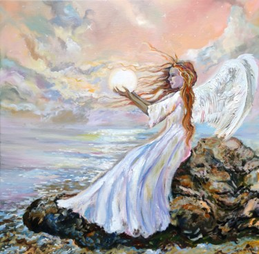 """Painting titled """"The light that insp…"""" by Sulamita Sulamita, Original Art, Oil Mounted on Stretcher frame"""