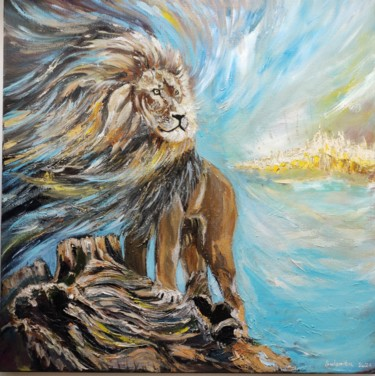 """Painting titled """"The king is coming."""" by Sulamita Sulamita, Original Art, Oil Mounted on Stretcher frame"""