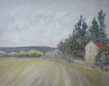 """Painting titled """"Landscape with a ho…"""" by Ferran Gomila, Original Art, Oil"""