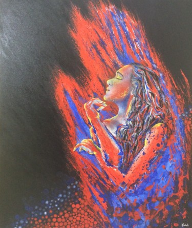"""Painting titled """"The Natures Abstract"""" by Gokul C, Original Art, Oil"""