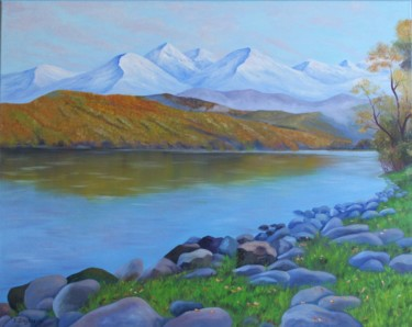 """Painting titled """"Autumn in the mount…"""" by Elena Zaytseva, Original Art, Oil"""