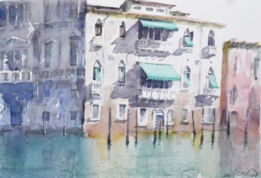 """Painting titled """"The house in Venice"""" by Goran Žigolić (watercolors), Original Art, Watercolor"""