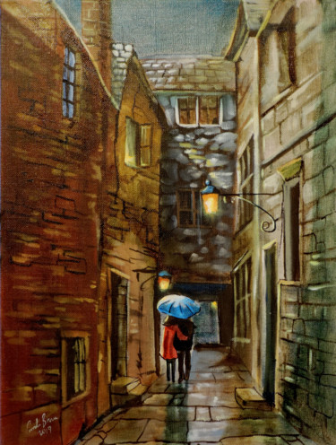 Painting, oil, impressionism, artwork by Gordon Bruce