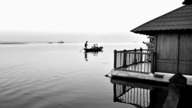 """Photography titled """"The Little Boat!"""" by Goutam Chakraborty, Original Art, Digital Photography"""