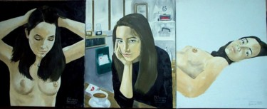 """Painting titled """"""""The Claire Triptyc…"""" by Reginald Gray, Original Art,"""