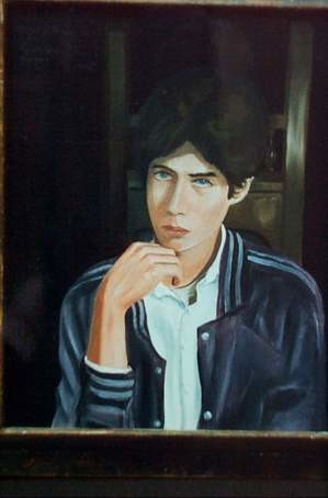 """Painting titled """"portrait of terence"""" by Reginald Gray, Original Art,"""