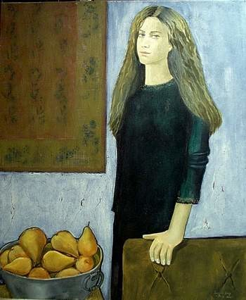 """Painting titled """"Girl in Chelsea Int…"""" by Reginald Gray, Original Art,"""