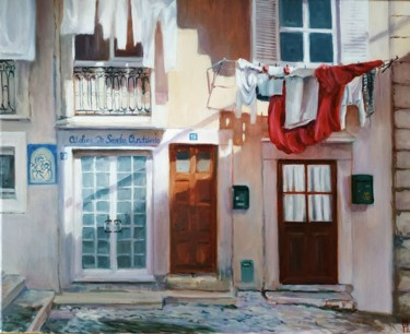 Urban Painting, oil, impressionism, artwork by Mary Grinkevich