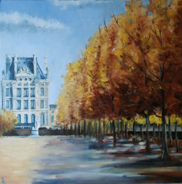 """Painting titled """"Autumn in Paris. Ci…"""" by Mary Grinkevich, Original Art, Oil Mounted on Cardboard"""