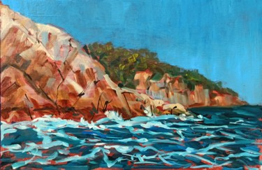 """Painting titled """"Rock scape #3, rock…"""" by Mary Grinkevich, Original Art, Oil"""