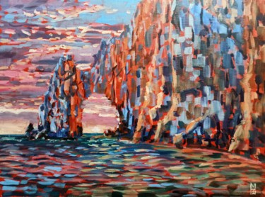 """Painting titled """"Rock scape #6, colo…"""" by Mary Grinkevich, Original Art, Oil"""