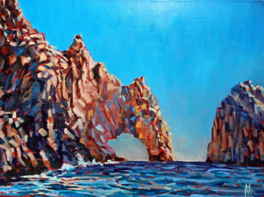 """Painting titled """"Rock scape #7, colo…"""" by Mary Grinkevich, Original Art, Oil Mounted on Cardboard"""