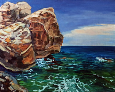 """Painting titled """"Rock scape #8, land…"""" by Mary Grinkevich, Original Art, Oil"""