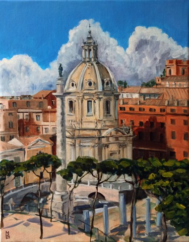 """Painting titled """"Rome. Cityscape pai…"""" by Mary Grinkevich, Original Art, Oil"""