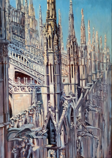 """Painting titled """"Milano Duomo. Citys…"""" by Mary Grinkevich, Original Art, Oil"""