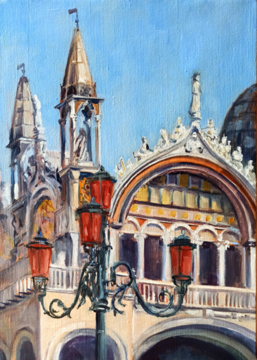 """Painting titled """"Venice. The Cathedr…"""" by Mary Grinkevich, Original Art, Oil"""